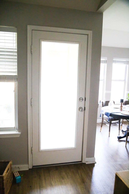 Back door before paint