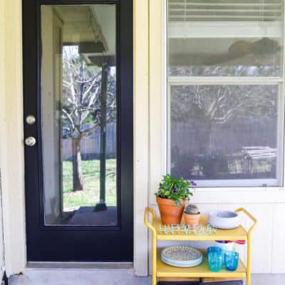 Exterior door painted black
