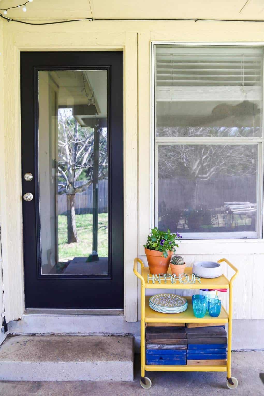 Refreshing The Back Door Love Renovations - Painting-an-exterior-door