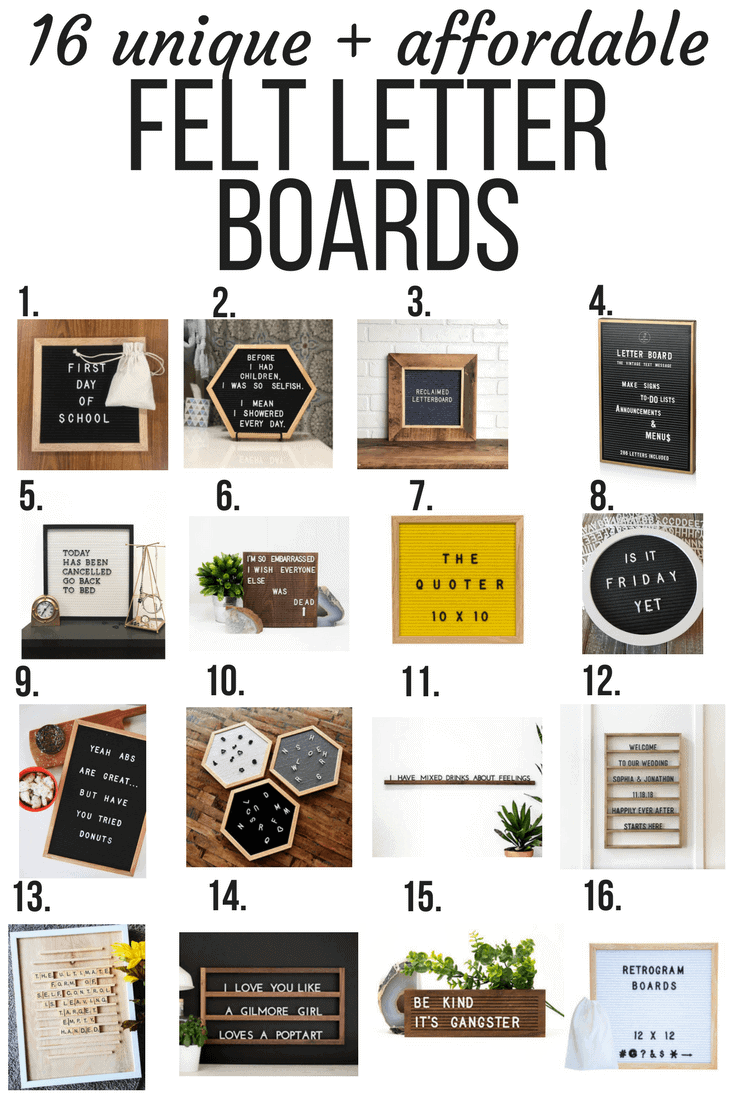 Where to buy a felt letter board