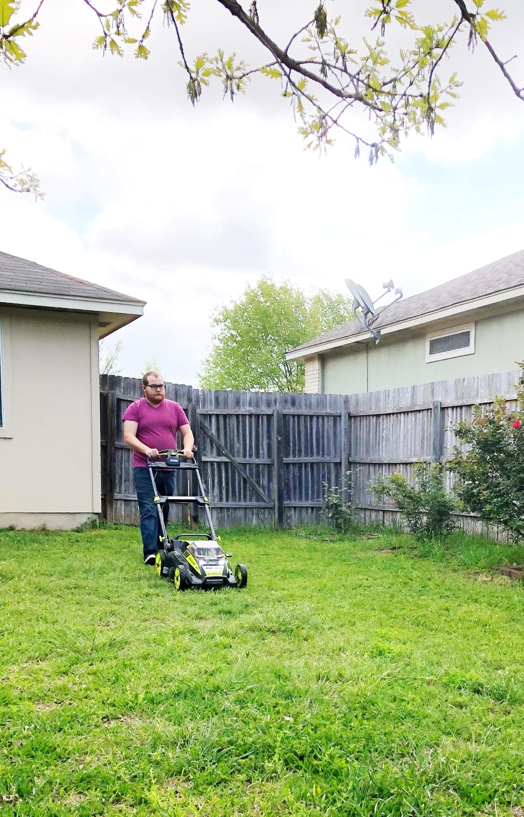 Ryobi battery powered mower