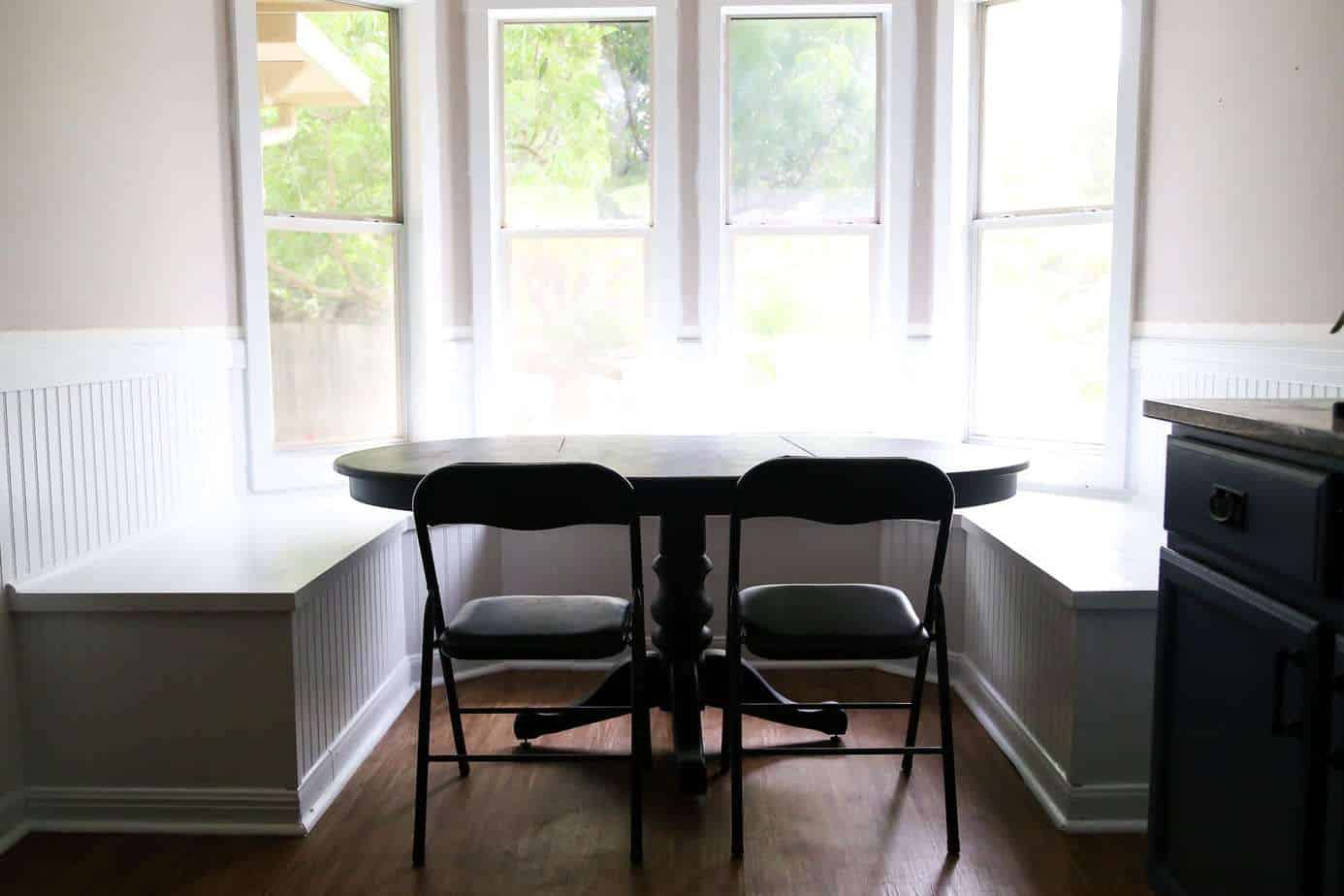 DIY Bay Window Bench (AKA: The Banquette Is FINISHED