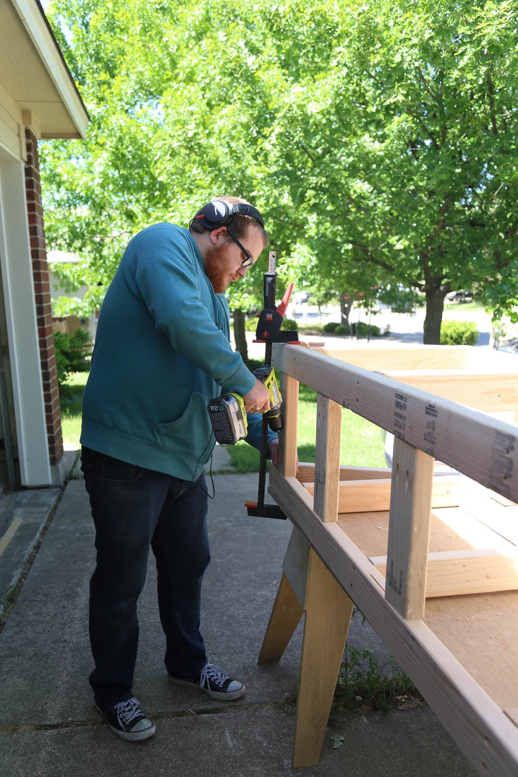 Constructing base for DIY banquette seating