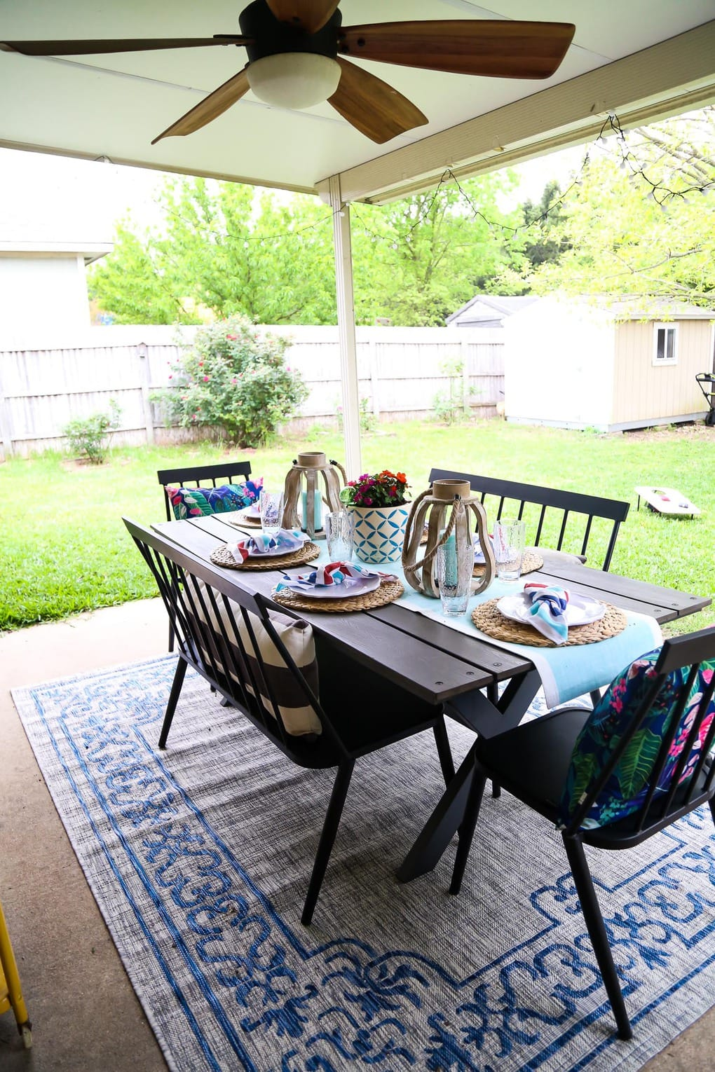 Patio Decorating Ideas + Outdoor Hosting Tips // Love & Renovations