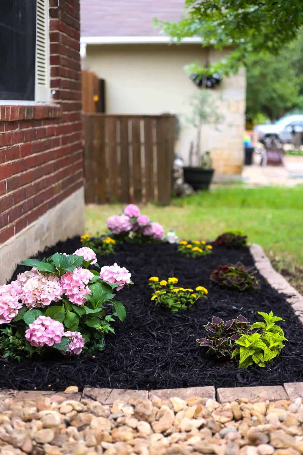 Front Yard Landscaping Ideas: Our Simple Flower Bed Makeover on Flower Bed Ideas Backyard id=78511