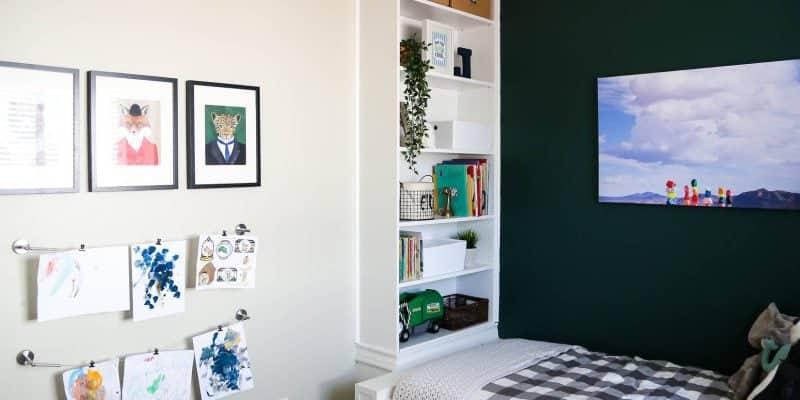Art display for kids rooms