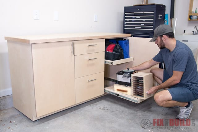 DIY base cabinet - tool organization ideas