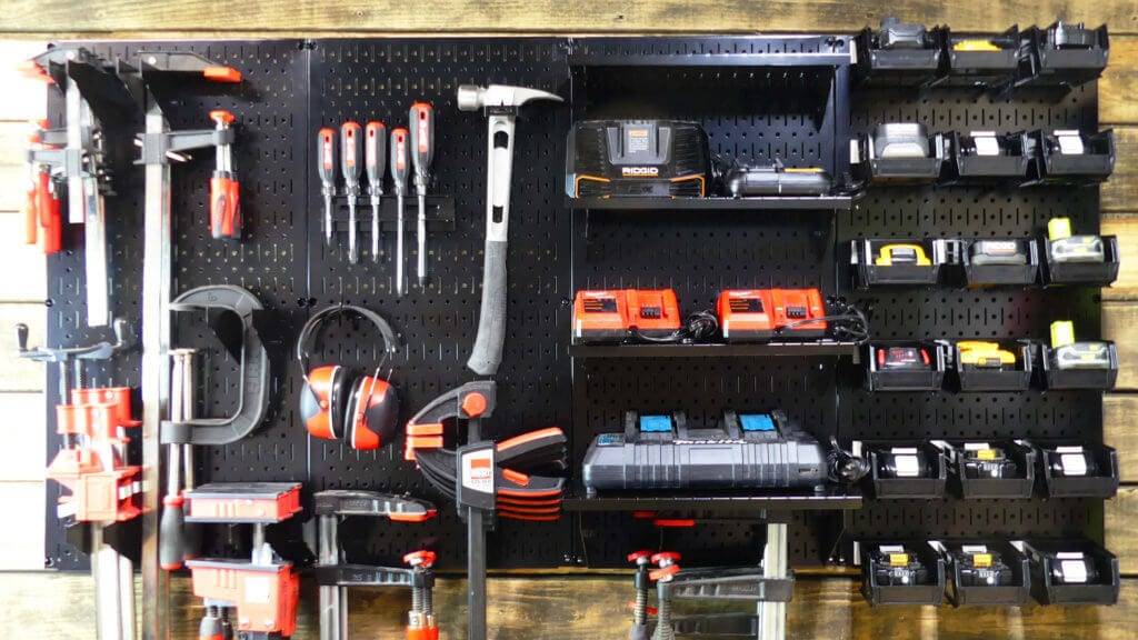 Clamp storage - tool organization ideas