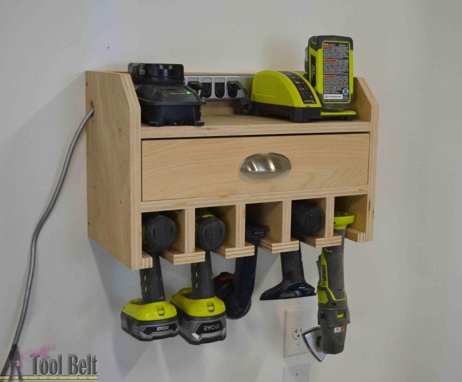 Cordless drill storage - tool organization ideas
