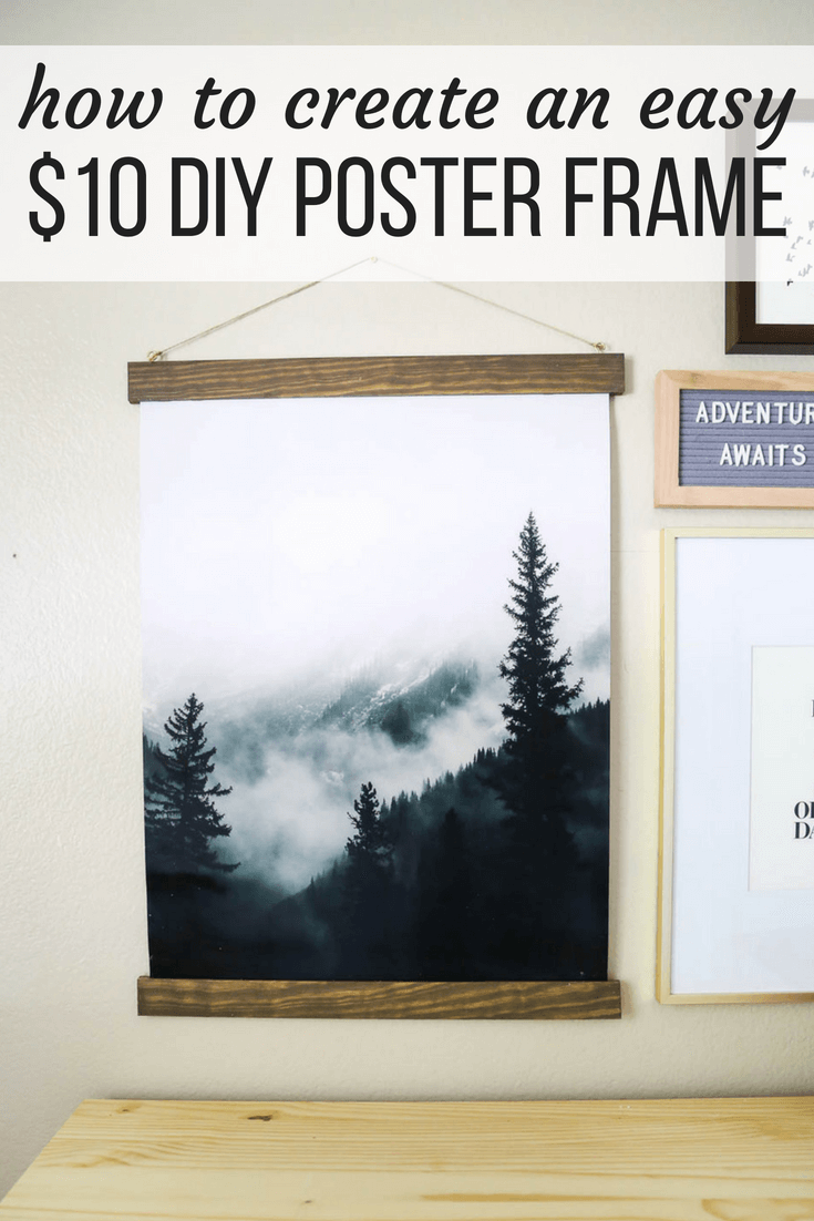 How to make a DIY poster frame