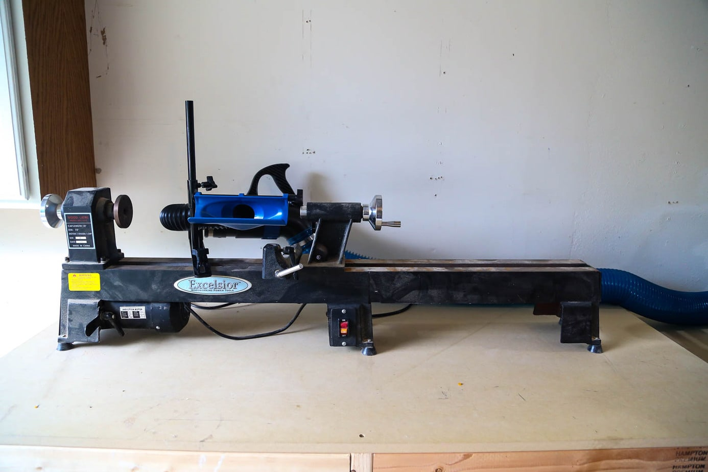 Rockler dust collection system lathe attachment