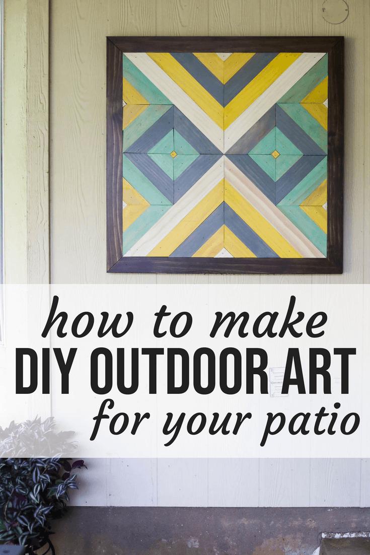 DIY art for patio
