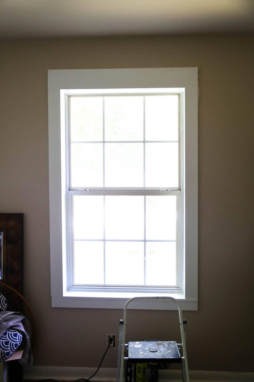 easy DIY window trim