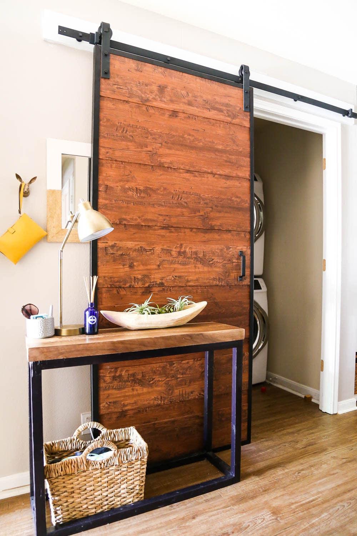 barn door for laundry room