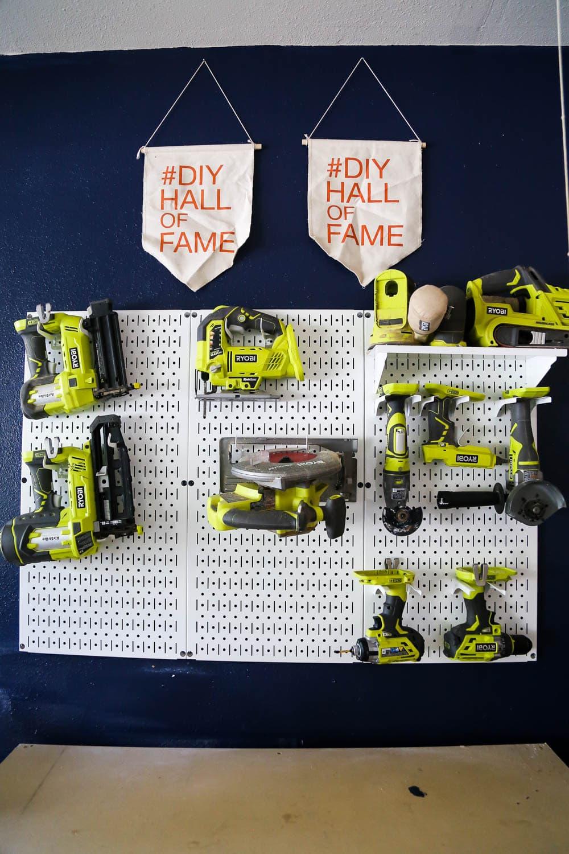 organizing tools in workshop
