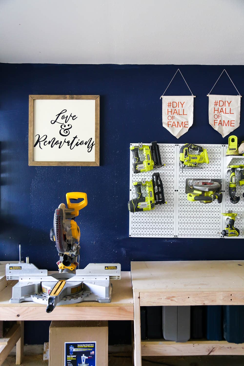 organizing workshop with metal pegboards