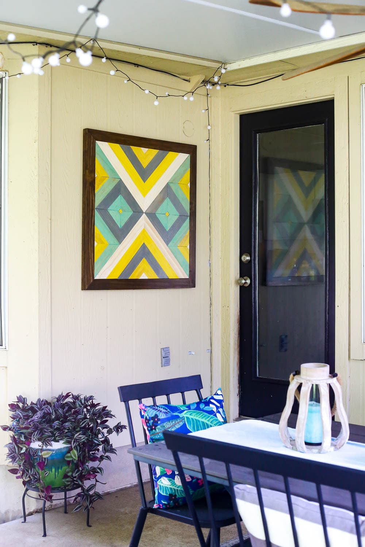 Easy DIY wall art for patio