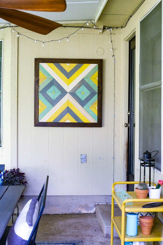 diy wall art for patio