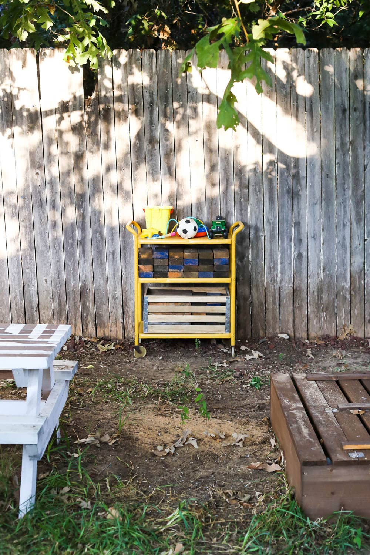 outdoor bar cart for toys