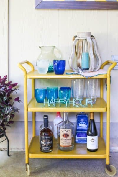 outdoor bar cart styling ideas