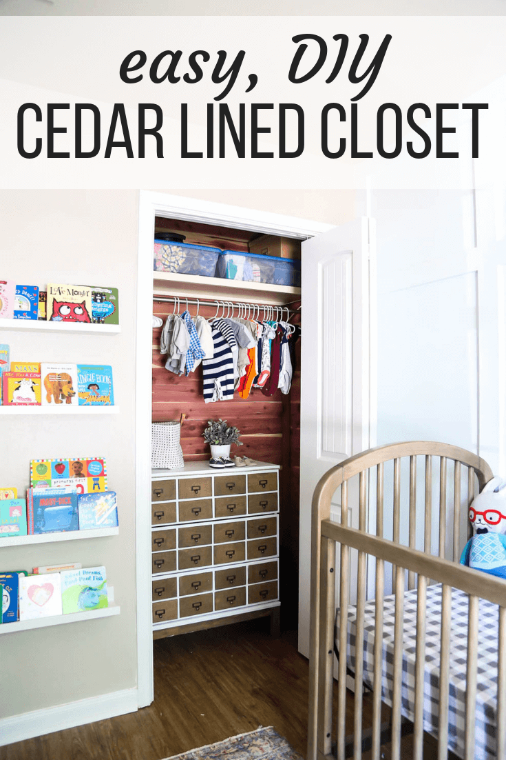 how to line a closet with cedar