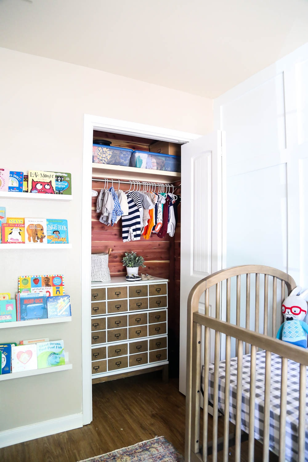 closet makeover with Cedar Safe