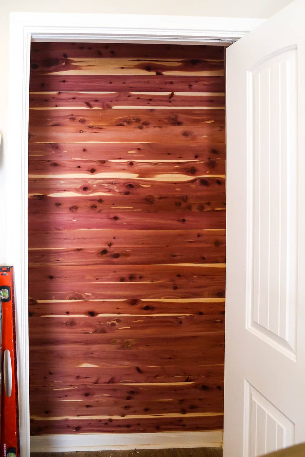 cedar lined closet in nursery