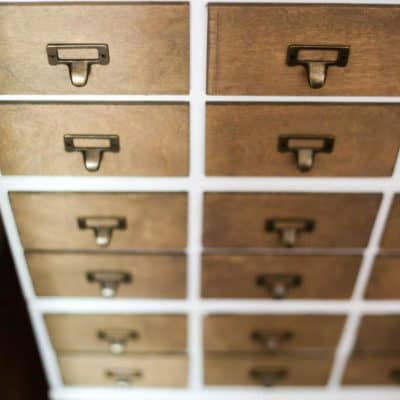 how to make a faux card catalog with IKEA dresser