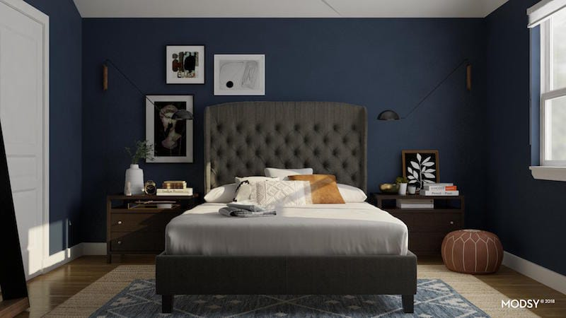 Modsy master bedroom design