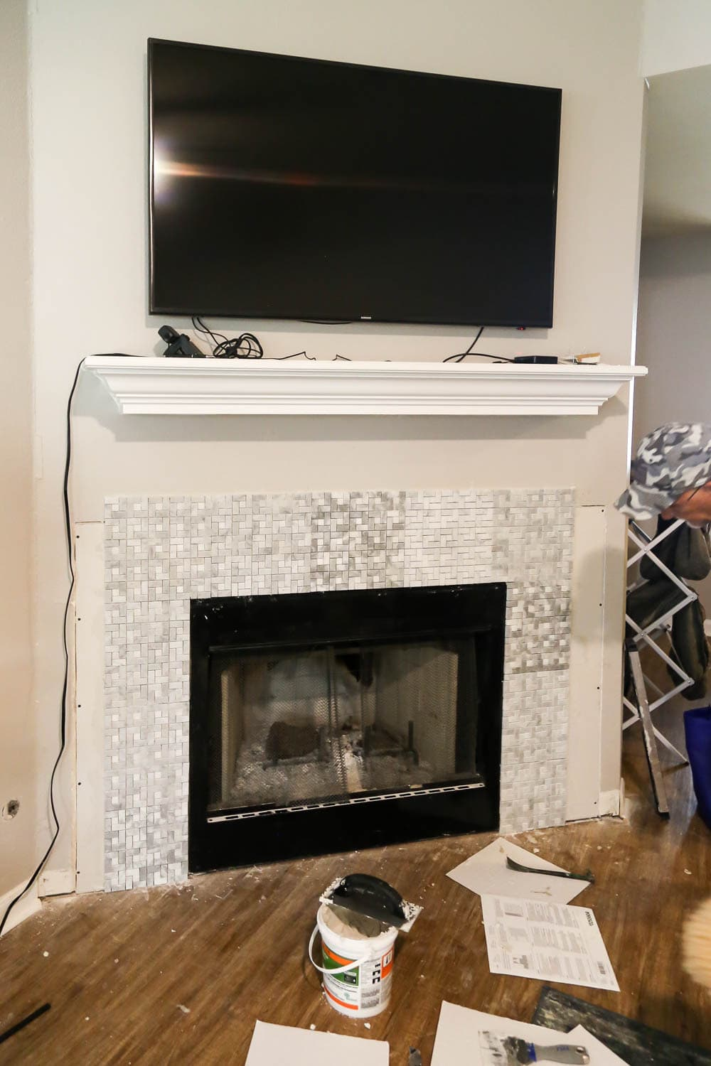 tiling fireplace
