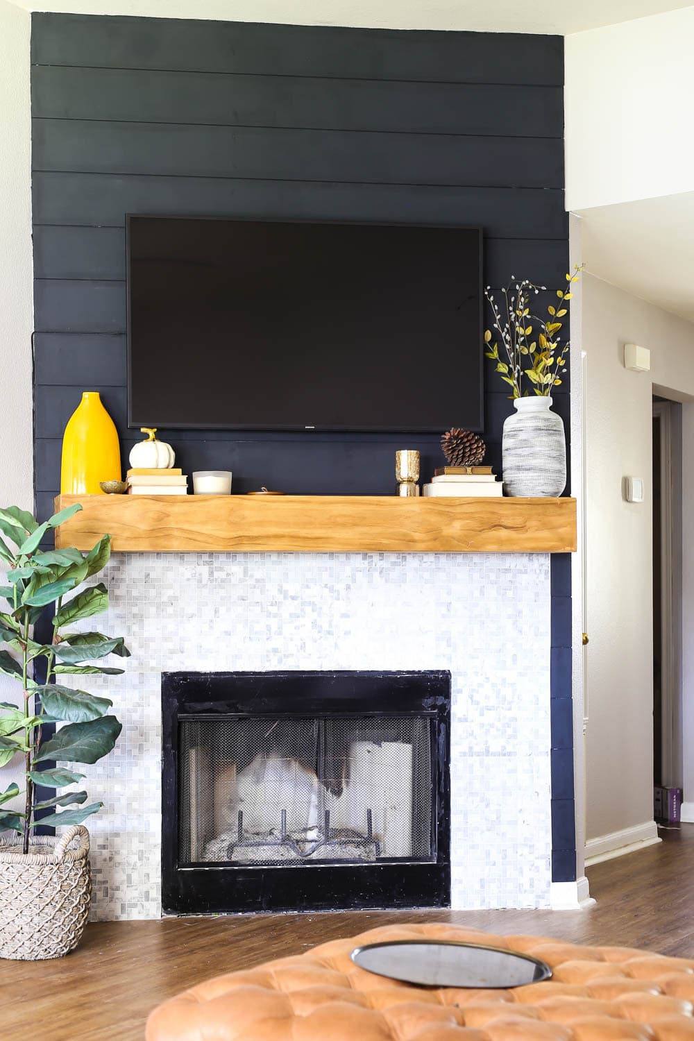 how to create a shiplap fireplace
