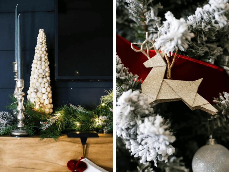 Christmas ornament and mantel