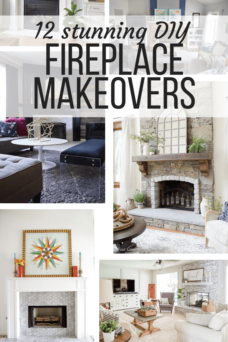 12 Diy Fireplace Makeovers That Will