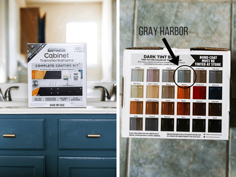 Rust-Oleum Cabinet Transformations in Gray Harbor
