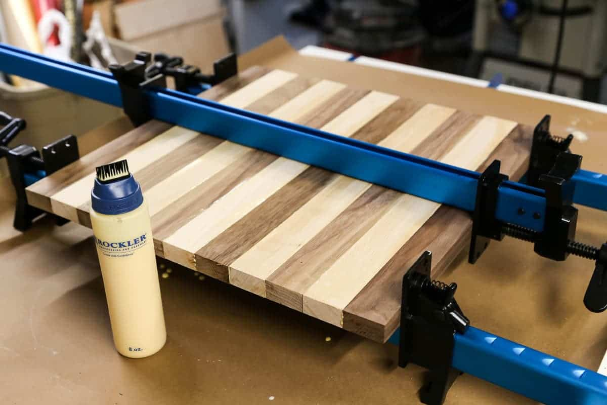 diy cutting board glue-up