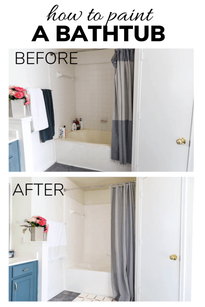 before and after of painted bathtub
