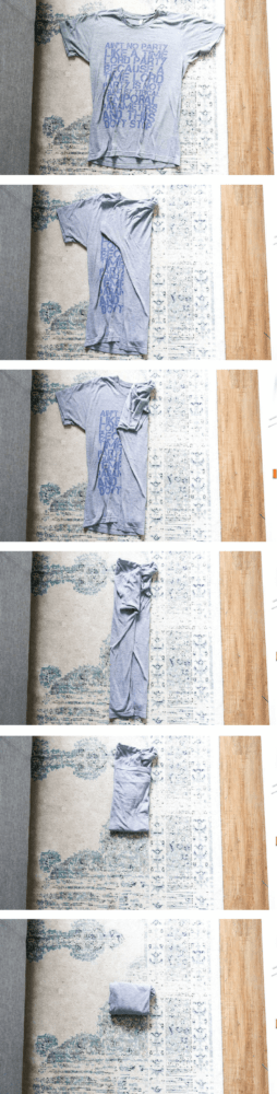 how to fold shirts using the konmari method
