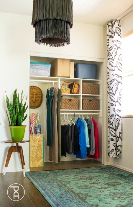 closet with DIY organization