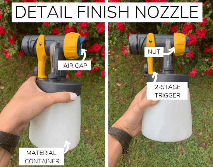 details of paint sprayer detail nozzle