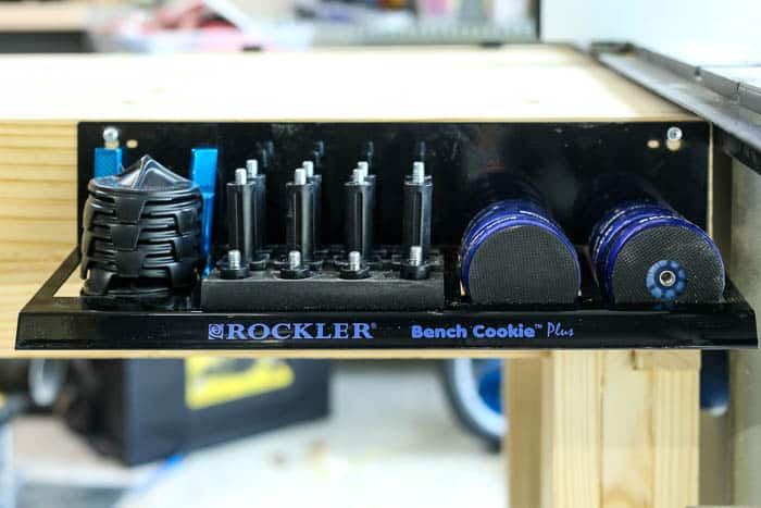 detail of bench cookie kit for workbench