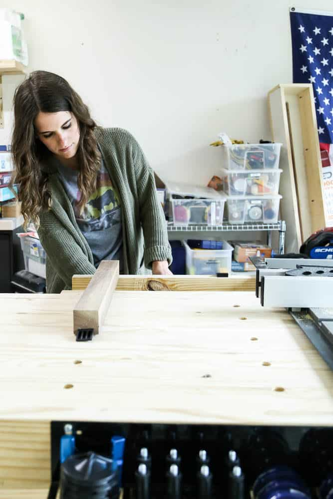 woman working at a. workbench