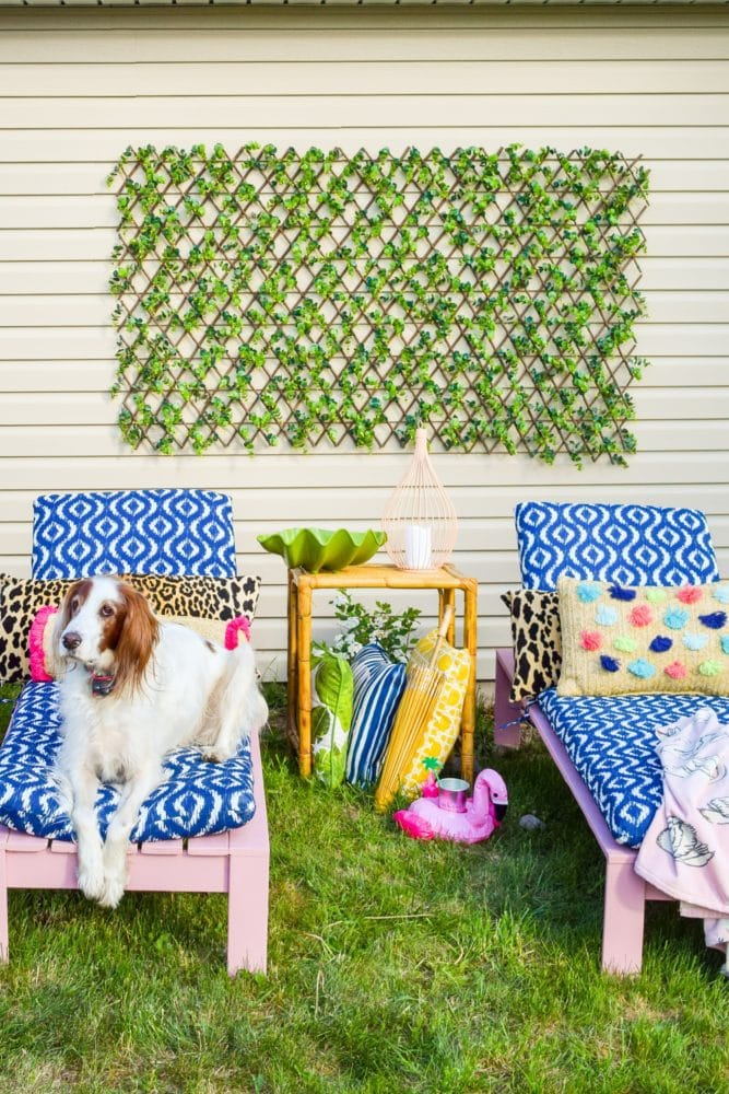 DIY outdoor lounge chairs
