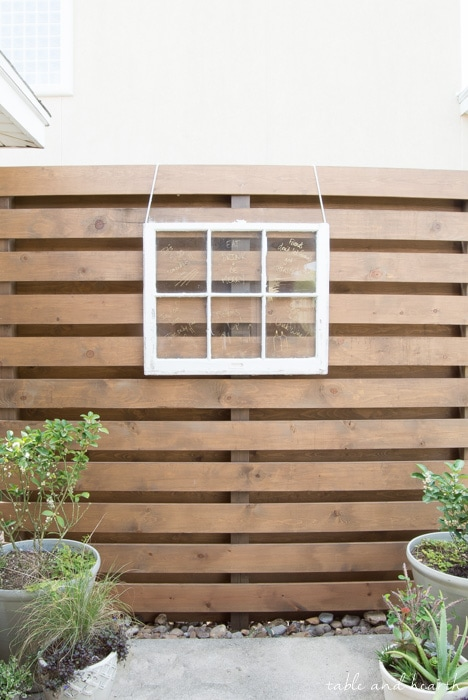 DIY outdoor privacy fence