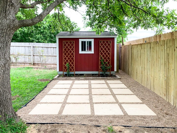 DIY Paver + Pea Gravel Patio – Love & Renovations