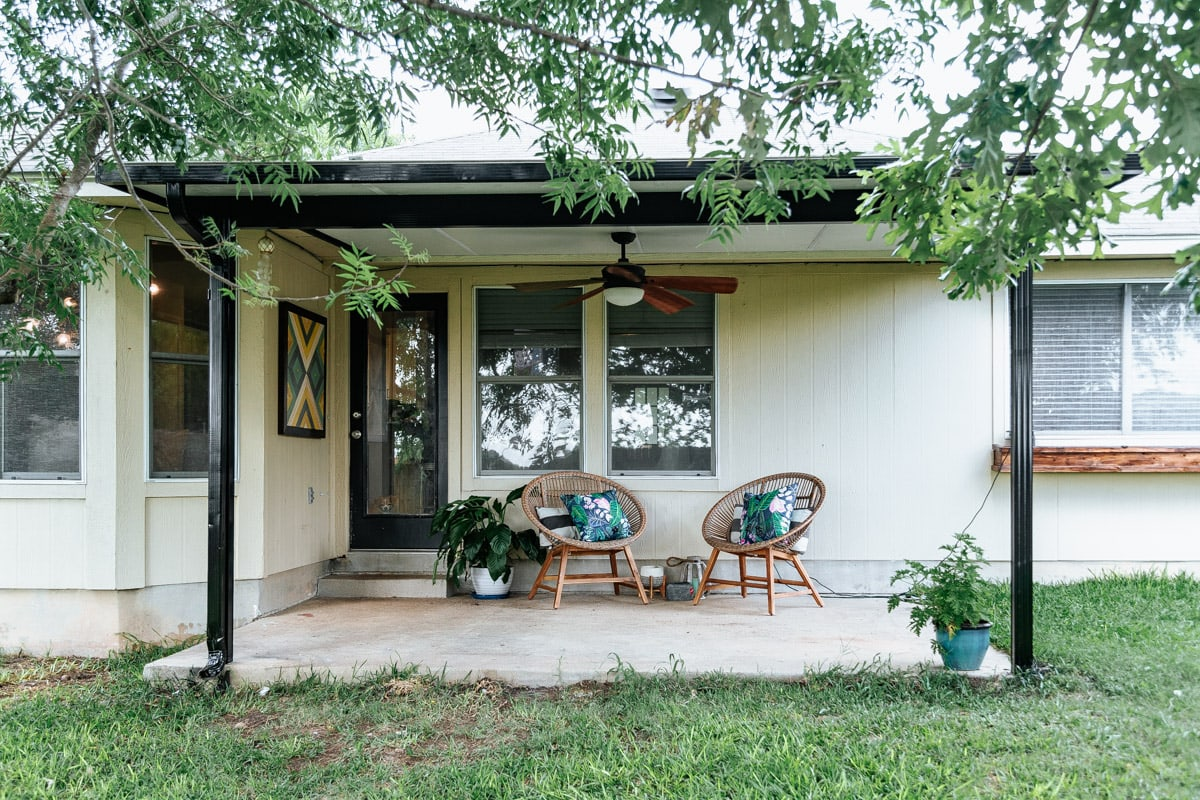 How To Transform An Ugly Metal Patio Cover Love Renovations
