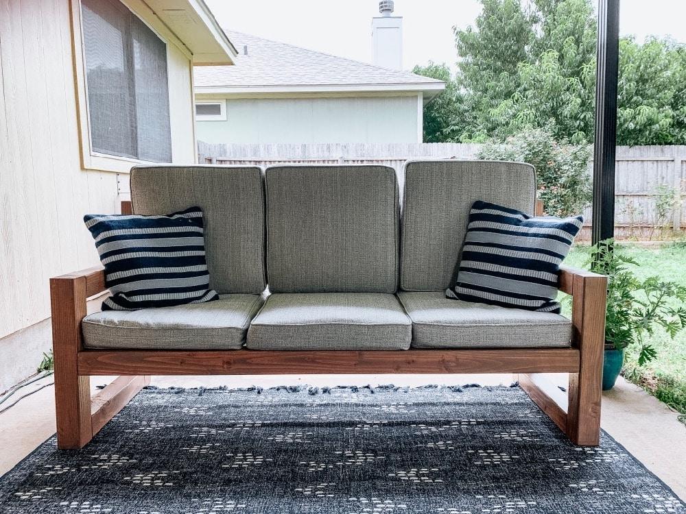 How to Build a DIY Outdoor Sofa - Love & Renovations