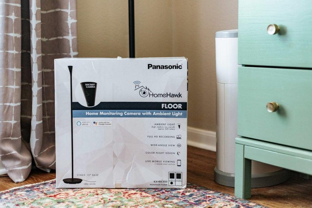 packaging of Panasonic HomeHawk FLOOR home monitoring camera