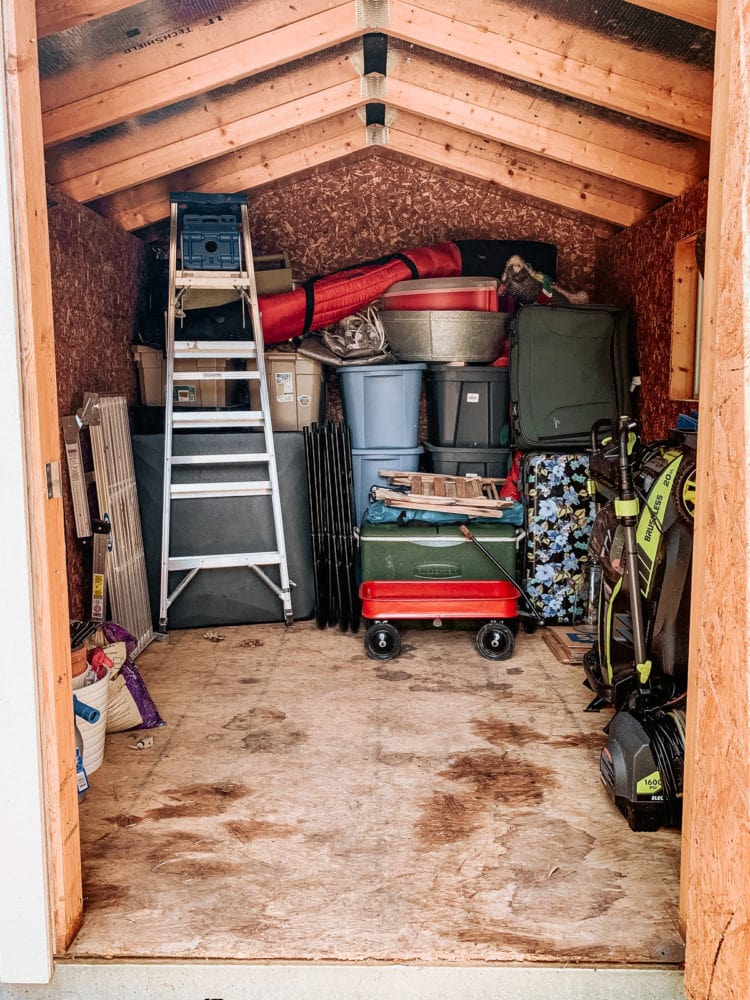 shed after organization