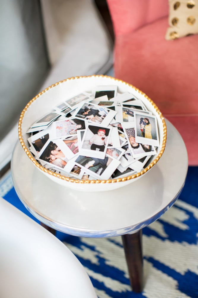 bowl of family photos