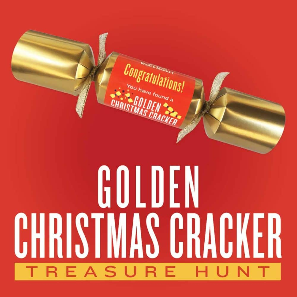 World Market Golden Christmas Cracker Treasure Hunt